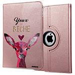 EVETANE Etui iPad Air rigide rose gold Yeux De Biche