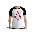 Assassin's Creed - T-shirt Crest homme MC blanc & noir - premium - Taille S