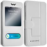 Avizar Etui folio Blanc pour Smartphones : Longueur entre 145 mm et 151 mm et d'une largeur max de 77 mm