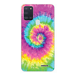 EVETANE Coque Samsung Galaxy A21S 360 intégrale transparente Tie and Dye Rainbow