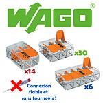 Wago Lot De 50 Borniers De Connexion Avec Levier (14x2 + 30x3 + 6x5) - Wago WAGOK1-221