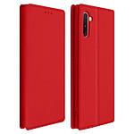 Avizar Etui folio Rouge Portefeuille pour Samsung Galaxy Note 10