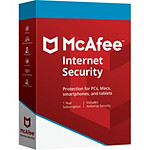 McAfee Internet Security - Licence 1 an - 1 poste - A télécharger