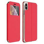 Avizar Etui folio Rouge pour Apple iPhone XS Max