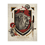 Harry Potter - Lithographie Gryffindor 36 x 28 cm