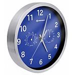 Bresser Horloge Murale 25cm Mytime Avec Température Et Humidité Couleur Bleue BRE_8020310WXH000