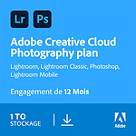 Adobe Creative Cloud Photographie 1 To - Licence 1 an - 1 poste - A télécharger