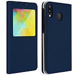 Avizar Etui folio Bleu Nuit pour Samsung Galaxy M20