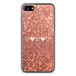 1001 Coques Coque silicone gel Apple IPhone 8 motif Paillettes coeur