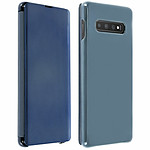 Avizar Etui folio Bleu Translucide pour Samsung Galaxy S10 Plus