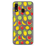 1001 Coques Coque silicone gel Samsung Galaxy A20e motif Fruits tropicaux