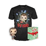 Piège de cristal - POP! & Tee set figurine et T-Shirt John McClane - Taille M