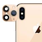 Avizar Film Caméra Dorée pour Apple iPhone 11,  Apple iPhone X, Apple iPhone XS, Apple iPhone XS Max