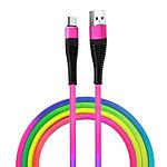 Câble USB-C Charge et Synchronisation Design Stylé 1m Robuste Multicolore