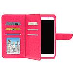 Avizar Etui folio Fuchsia pour Smartphones de 5.5' à 6.0'