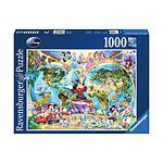 Disney - Puzzle carte du monde de Disney (1000 pièces)