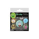 Rick et Morty - Pack 5 badges Heads