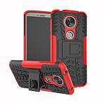 Lapinette Coque Anti Choc Pour Motorola Moto E5 Modèle Spider Rouge