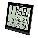 Bresser Horloge Murale Noire Avec Grand écran Lcd Et Prévisions Météos 24h BRE_7004404-BK