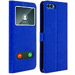 Avizar Etui folio Bleu Éco-cuir pour Honor View 10