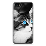 1001 Coques Coque silicone gel Apple IPhone 8 Plus motif Chat yeux bleu