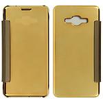 Avizar Etui folio Dorée pour Samsung Galaxy J3