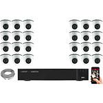 EC-VISION Kit vidéo surveillance IP 24 caméras dômes POE 5 MegaPixels