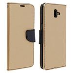 Avizar Etui folio Dorée Fancy Style pour Samsung Galaxy J6 Plus