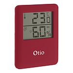 Thermomètre / Hygromètre intérieur magnétique - Rouge - Otio