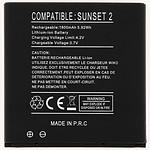 Avizar Batterie Noir pour Wiko Sunset 2