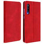 Avizar Etui folio Rouge Vieilli pour Xiaomi Mi 9