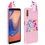 Avizar Coque Rose Licorne pour Samsung Galaxy A7 2018