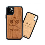 Woodstache Coque en bois Time is Now   iPhone XR | Made in France