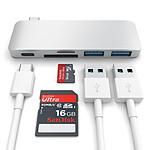SATECHI Hub Passthrough Type C USB  Silver