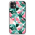 1001 Coques Coque silicone gel Apple iPhone 11 motif Flamants Roses ge´ome´trique