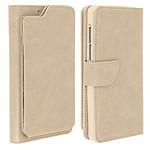 Avizar Etui folio Beige pour Compatibles avec Smartphones de 5,5 à 6,0 pouces