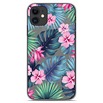 1001 Coques Coque silicone gel Apple iPhone 11 motif Tropical Aquarelle