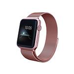 LA COQUE FRANCAISE Bracelet en acier compatible avec Apple Watch 38-40mm - Rose Gold (Vendu sans la montre)