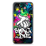 1001 Coques Coque silicone gel Apple IPhone 8 motif Swag or die