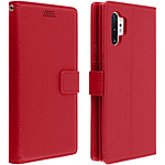 Avizar Etui folio Rouge Porte-Carte pour Samsung Galaxy Note 10 Plus