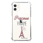 LA COQUE FRANCAISE Coque iPhone 11 anti-choc souple angles renforcés transparente Princesse de Paname