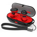 WEE'PLUG Ecouteurs intra-auriculaires sans fil i15 Noir/Rouge
