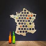 Carte de France collecteur de capsules