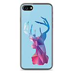 1001 Coques Coque silicone gel Apple IPhone 8 motif Cerf Hipster Bleu