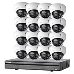 Dahua Kit vidéosurveillance 16 caméras anti-vandalisme + enregistreur  1080p