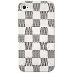 PURO  Coque iPhone 4/4S Leather  Damier Blanc