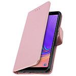 Avizar Etui folio Rose Champagne Porte-Carte pour Samsung Galaxy A7 2018
