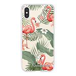 LA COQUE FRANCAISE Coque iPhone X/Xs souple transparente Flamants Rose