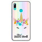 1001 Coques Coque silicone gel Huawei P Smart 2019 motif Unicorn World