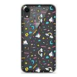1001 Coques Coque silicone gel Apple iPhone XR motif Licorne rainbow